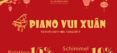 Ưu đãi mua đàn Piano – Giảm tới 15%